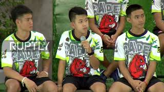 Thailand: Thai boys recount being trapped in cave without food