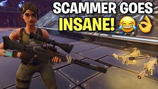 Rich scammer loses entire inventory! ?? (Scammer Get Scammed) Fortnite Save The World