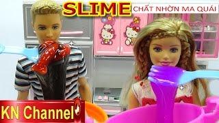 Đồ chơi trẻ em Búp bê Barbie GIA ĐÌNH LUCY tập 22 Nấu ăn Slime Chất nhờn ma quái Kids toy
