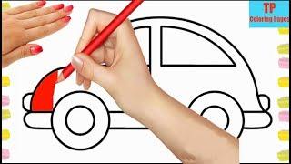Cách vẽ ô tô   Hướng dẫn bé học vẽ xe ô tô đẹp nhất   Bé học vẽ