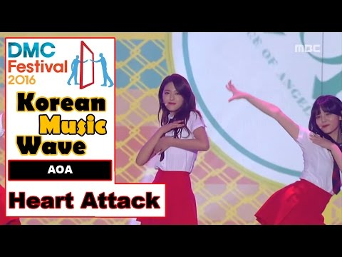 [Korean Music Wave] AOA - Heart Attack, 에이오에이 - 심쿵해 20161009