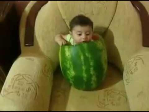 Bebe come sandia desde adentro - Ternura