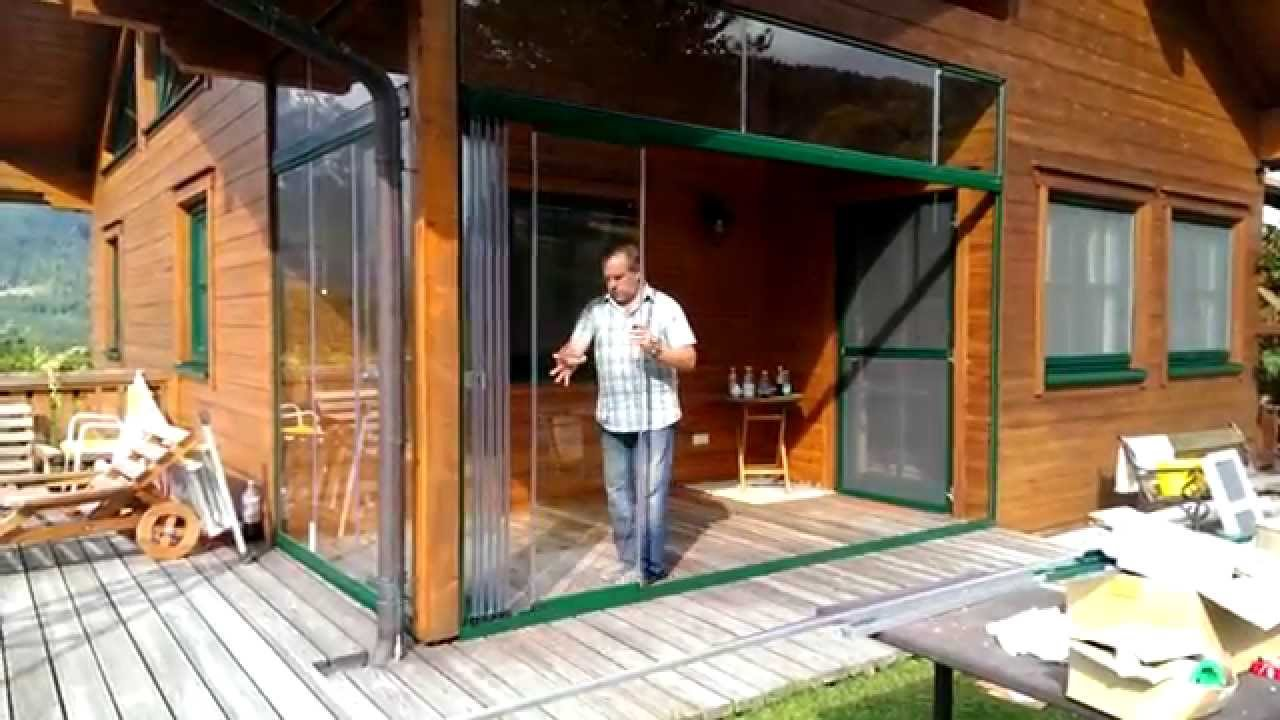 wintergarten schiebet r aus glas youtube. Black Bedroom Furniture Sets. Home Design Ideas