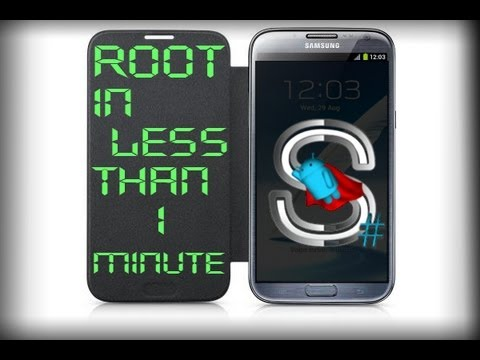 Easiest way to Root Galaxy Note2 in less than 1 minute