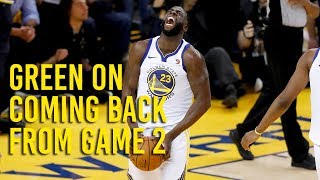 NBA Playoffs: Green on coming back from Game 2