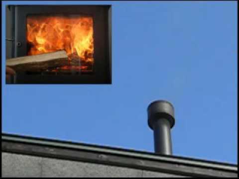 薪ストーブの炎と煙の関係