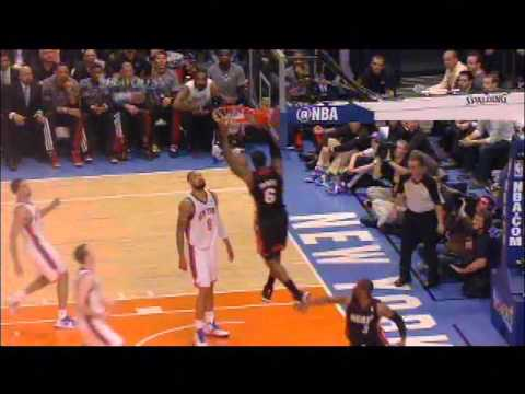 Dwyane Wade Alley Oop to LeBron James Game 3 Heat vs  Knicks