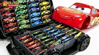 Learning Color Disney Cars Lightning McQueen big size car case Play for kids car toys
