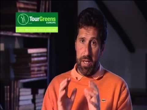 Jose Maria Olazabal talking about Tour Greens Europe