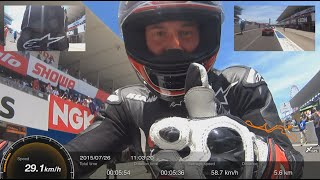 Suzuka 8 hours 2015 One lap with Keanu Reeves on his ARCH motorcycle