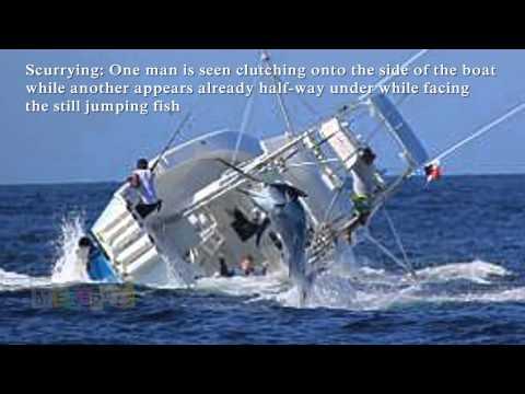 Marlin Sinks Fishing Boat. Vessel Capsizes After Hooking Huge Fish  Reuploaded
