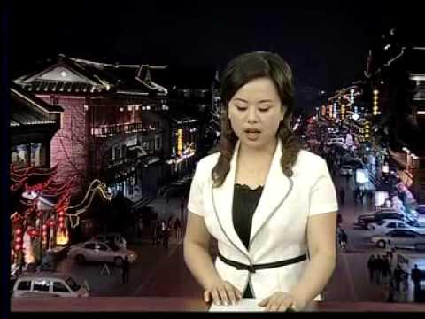 Earthquake on live TV news (backdrop pre-recorded)