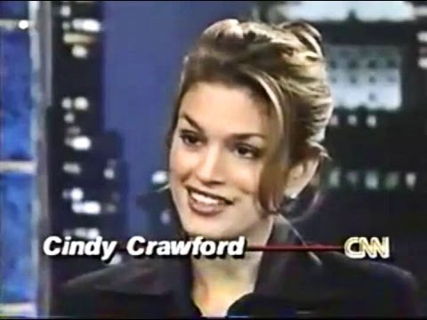 Cindy Crawford -  On Larry King Interview 1996