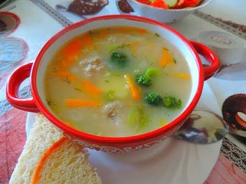 Готовлю пшённый суп с фрикадельками, овощами и капустой брокколи  Вкусно и полезно