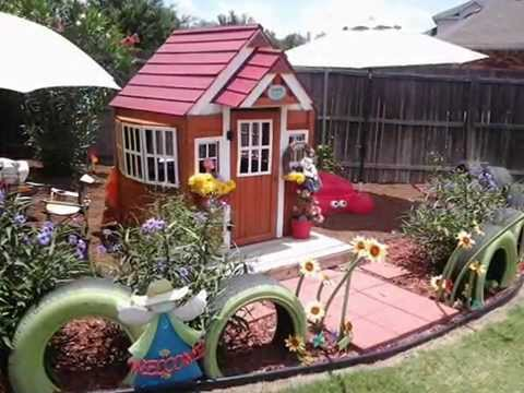Украсить площадку у дома своими руками