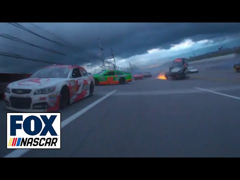 Talladega crash from the Aaron's 499 Race. See it from the drivers' in-car cameras - Dale Earnhardt Jr., Clint Bowyer, and Michael Waltrip. Make sure to watc...