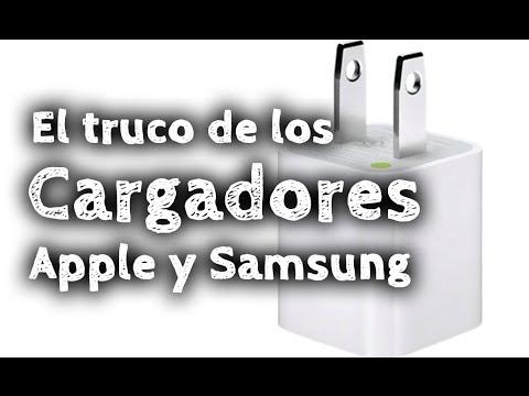 El truco de los cargadores de Apple y Samsung