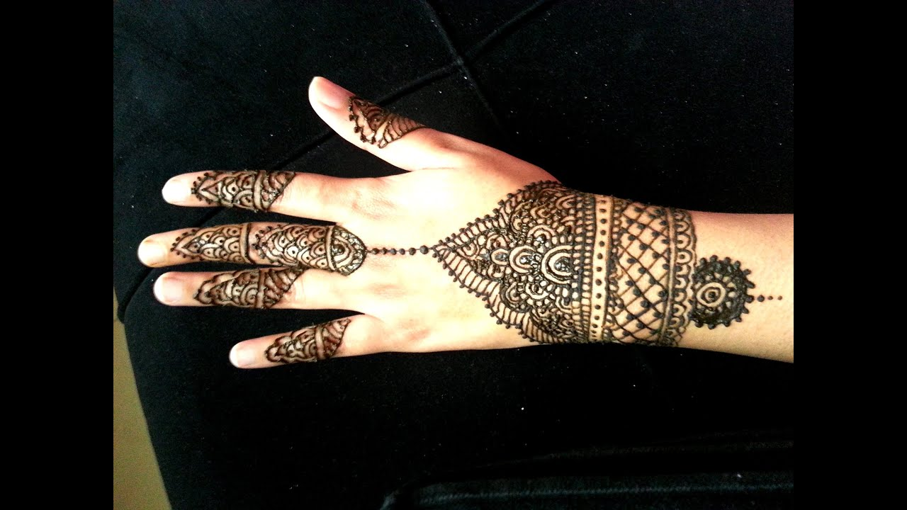 Mehndi For Wrist : Simple wrist henna design indian arabic fusion mehendi