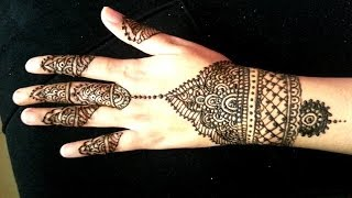 Simple Wrist Henna Design - Indian Arabic Fusion Mehendi