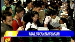 DOLE: More job openings than applicants