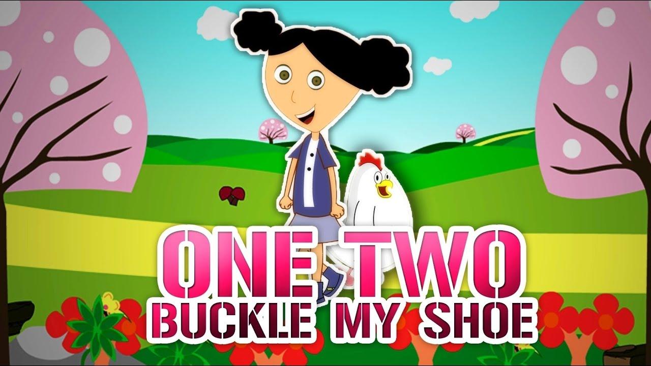 One two buckle my shoe nursery rhyme with lyrics youtube
