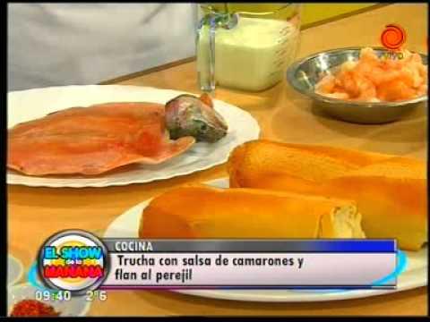 La receta del día Trucha con salsa de camarones y flan al perejil pt1.3gp