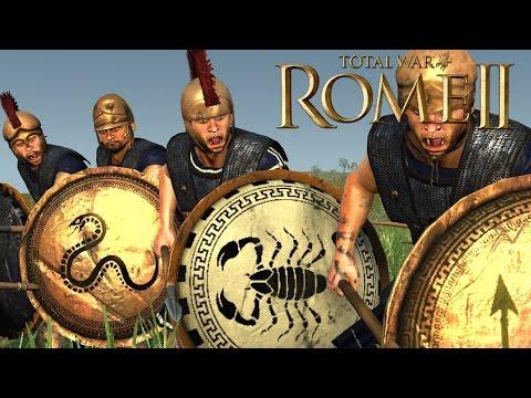 Defense vs Offense - Total War Rome 2 Online Battle Video 370