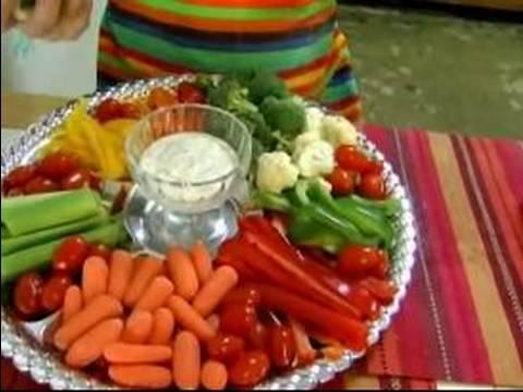 How to Make Vegetable Platters : Vegetable Platter Dips