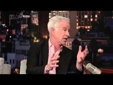 John McEnroe interview on David Letterman   December 20, 2013