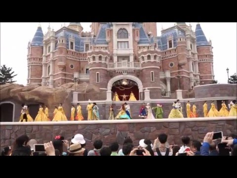TRIAL Golden Fairy Tale Fanfare show at Shanghai Disneyland's Enchanted Storybook Castle