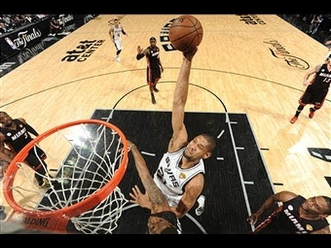 Tim Duncan Drops the Hammer Down Low