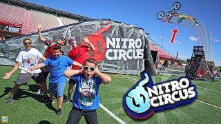 EPIC Dirtbike vs ATV vs Snowmobile Nitro Circus Adventure!!