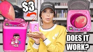 I TRIED A MINI BEAUTY BLENDER WASHER MACHINE $3