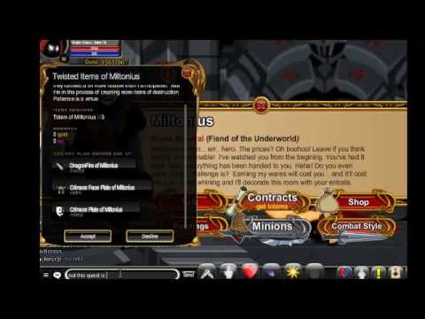 AQW: The best armor ever ( Crimson plate of Miltonius) part 2 how get  Crimson of miltonius