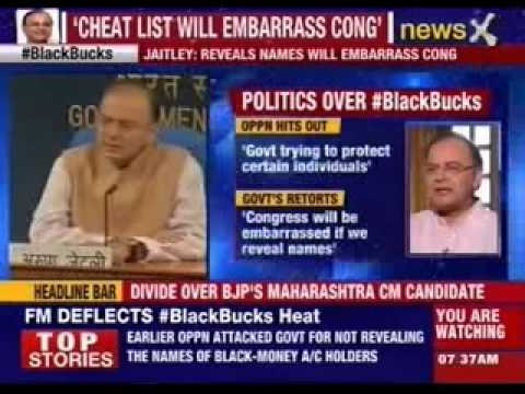 Arun Jaitley hits out at Congress over Black money issue