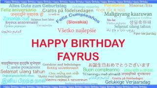 Fayrus   Languages Idiomas - Happy Birthday
