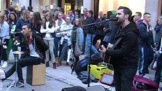 Cezar and Jacob - Sound of Silence - Grafton Street - Dublin - 2014