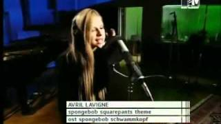 Avril Lavigne - Sponge Bob Square pants.