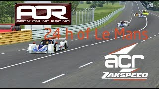 24 Hours of Le Mans by AOR - rFactor 2 - ACR Zakspeed Final Stint with Engineering