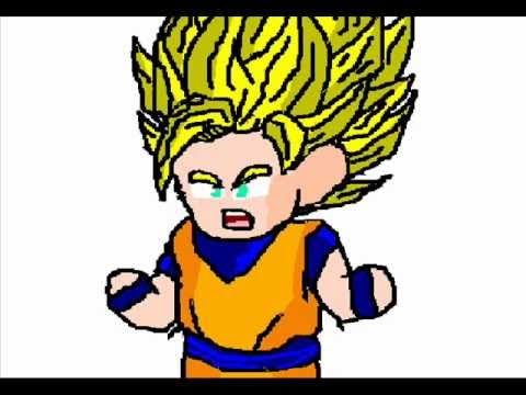 Chibi Goku Transforms Into A Super Saiyan 3 video