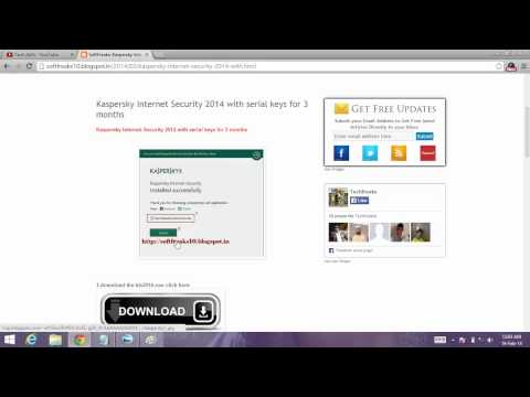 Kaspersky Internet Security 2014 Serial keys