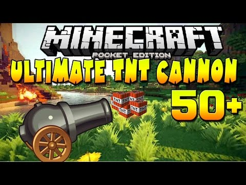[0.10.5] Ultimate TNT Cannons!! - Redstone Mod - Minecraft Pocket Edition