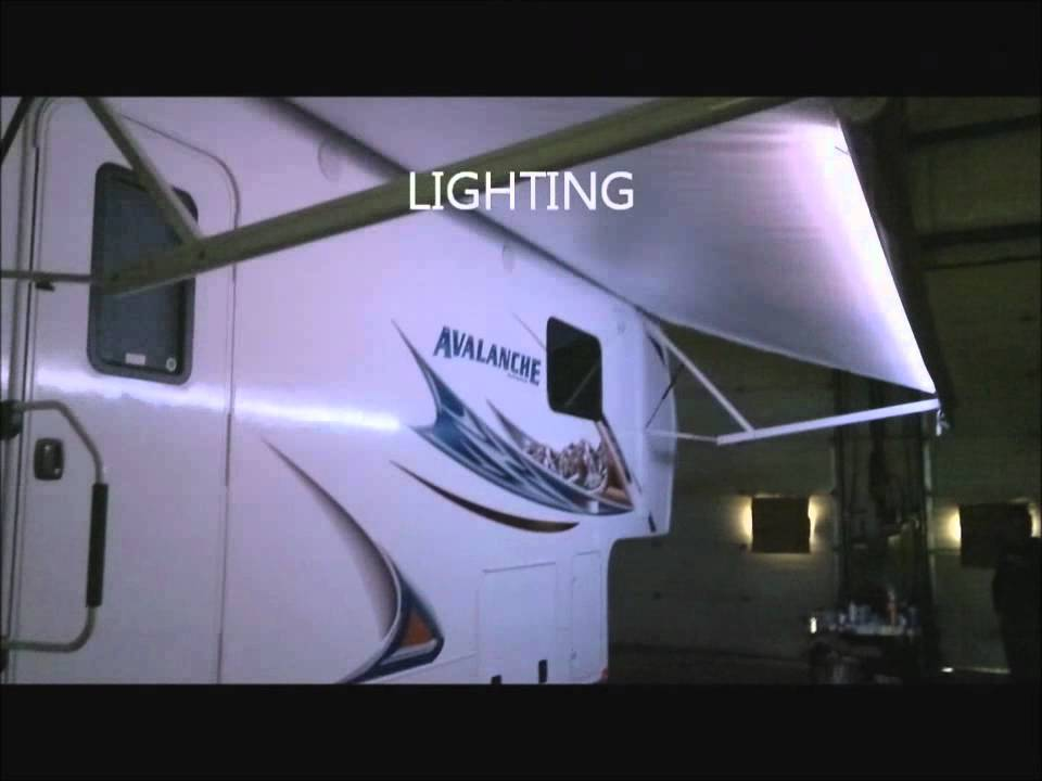 Unique Motorhome Rv Lights Campsite Picnic Table And Outdoor Kitchen Lighting