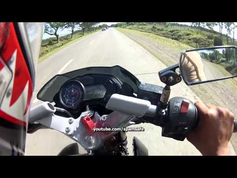 GPS: Kawasaki Rouser Pulsar 135 Top speed