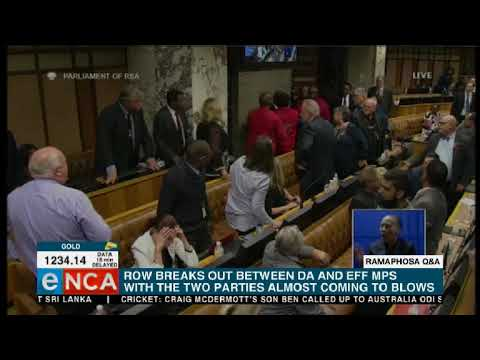 EFF MPs and Agang MPs fight in Parliament