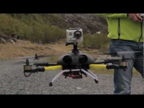 BumbleBee Quadcopter Testing - Behind The Scene With Canon 550D