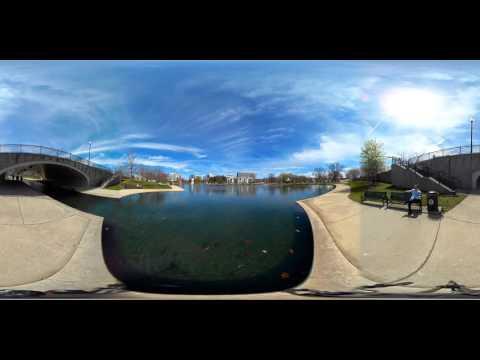 360 Video View of Big Spring Park, Downtown Huntsville, Alabama