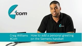 How to record a personal voicemail greeting using a Siemens business phone