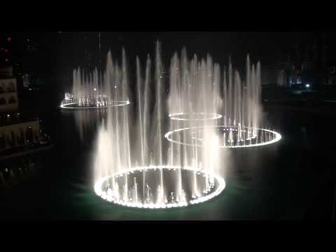 Burj Dubai Khalifa Fountain 'Time to Say Goodbye'