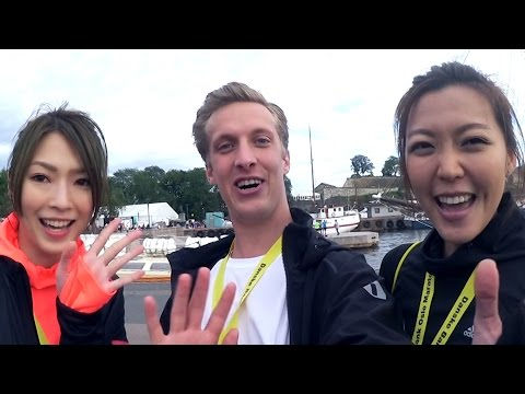 A chat with SHIGA LIN and INEZ LEONG! (at Oslo Marathon)